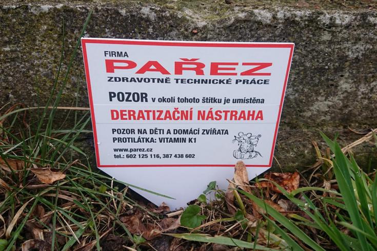 Deratizace Pařez